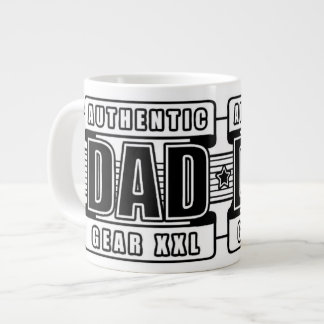 Dads Authentic Father Gear Large Coffee Mug
