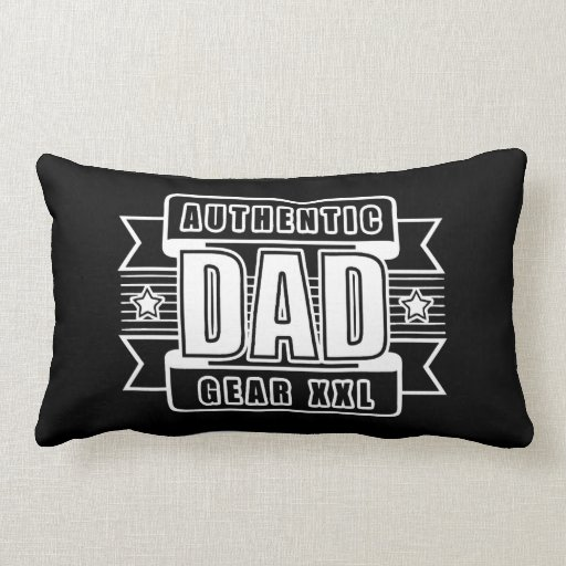 Dads Authentic Father Gear Throw Pillows