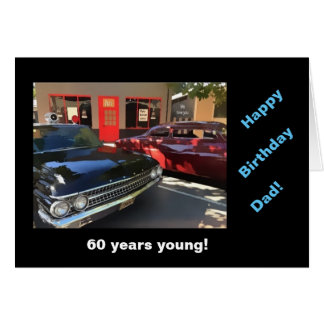 Dad's b-day vintage cars card