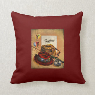 Dad's Bait and Tackle Throw Pillow
