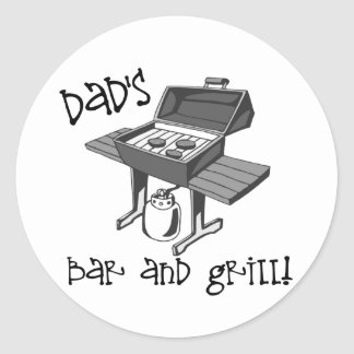Dad's Bar and Grill Classic Round Sticker