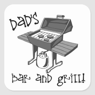 Dad's Bar and Grill Square Sticker