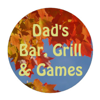 Dad's Bar Grill & Games POKER CHIPS Leaves custom