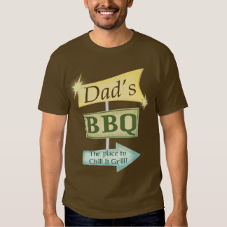 Dad's BBQ Father's Day Retro Apron T Shirt