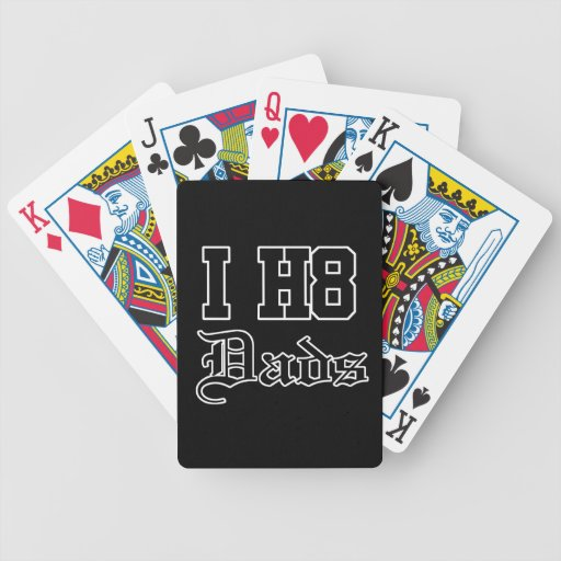 dads bicycle playing cards