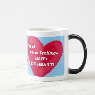 "Dad's Big Heart ""Morphing"" Mug"