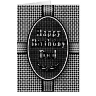 DAD'S BIRTHDAY - ABSTRACT BLACK/WHITE CARD