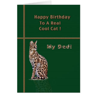 Dad's Birthday Card with Ocelot