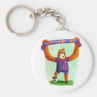 Dad's Birthday Football Orangutan Keychain