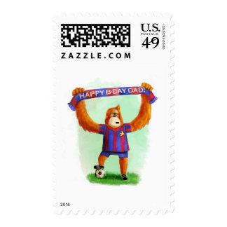 Dad's Birthday Football Orangutan Postage Stamp