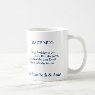 dad's birthday mug, DAD'S MUG,       Happy Birt... Classic White Coffee Mug