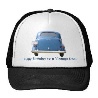 Dad's Birthday Vintage Blue Chevy Cap - Your Name! Trucker Hat