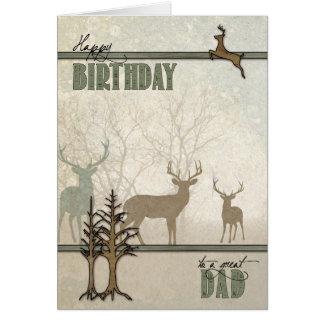 Dad's Birthday Woodland Forest Deer Card