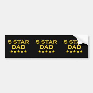 Dads Birthdays Fathers Day Five Star Dad Bumper Sticker