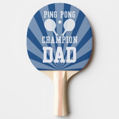 Dad's Blue Ping Pong Champion Paddle
