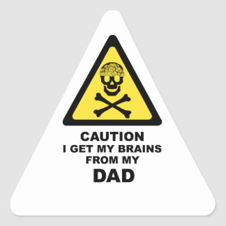 dads brains triangle sticker