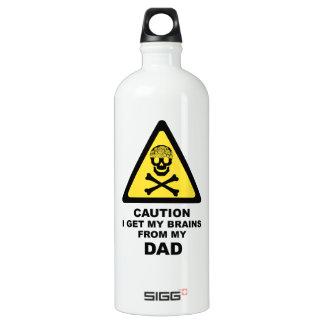 dads brains water bottle