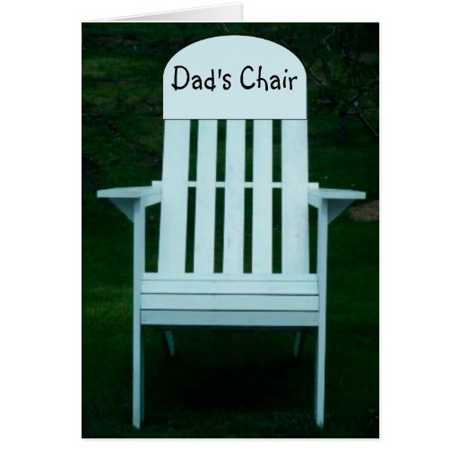 Dad's Chair Card