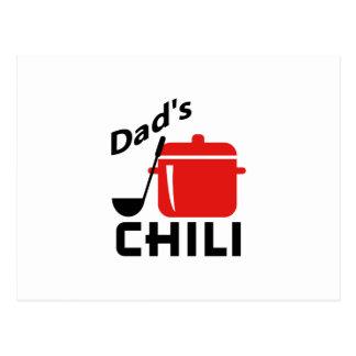 Dad's Chili Postcard