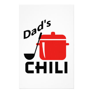 Dad's Chili Stationery