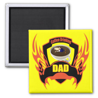 Dads Coffee Fridge Magnet