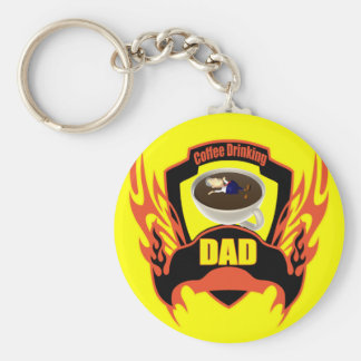 Dads Coffee Key Chain
