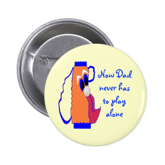Dad's Comic Golf Bag Button