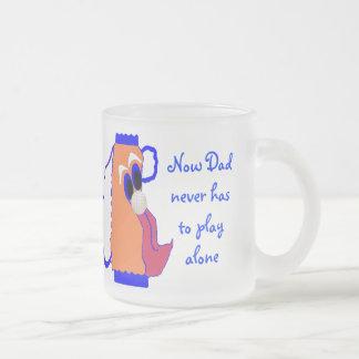 Dad's Comic Golf Bag Frosted Glass Coffee Mug