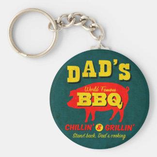 Dad's Cooking Basic Round Button Keychain