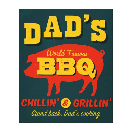 Dad's Cooking Canvas Print