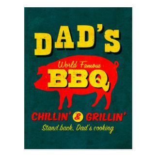 Dad's Cooking Postcard