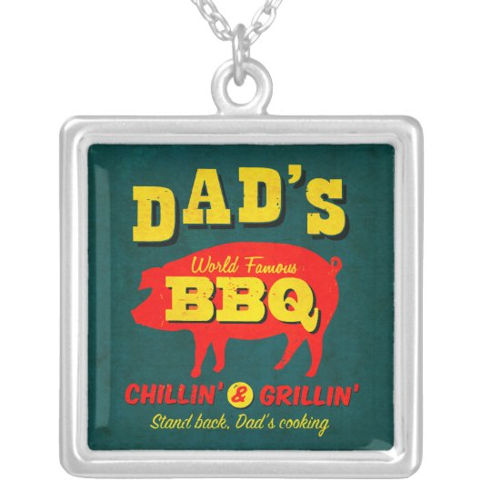 Dad's Cooking Silver Plated Necklace