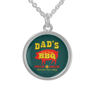 Dad's Cooking Sterling Silver Necklace