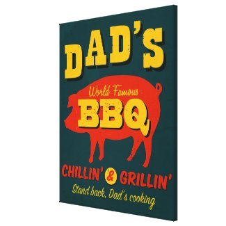 Dad's Cooking Stretched Canvas Prints