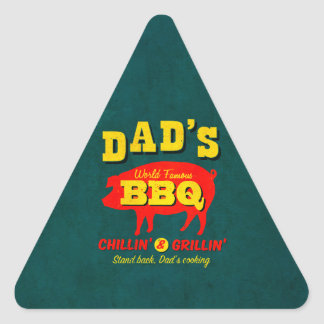 Dad's Cooking Triangle Sticker