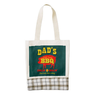 Dad's Cooking Zazzle HEART Tote Bag