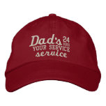 Dad's Customizable 24 HRS Service Have Fun! Embroidered Baseball Cap