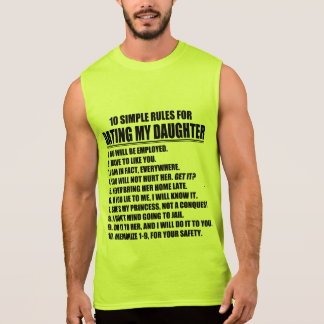 Dad's Dating Rules Sleeveless T-shirt