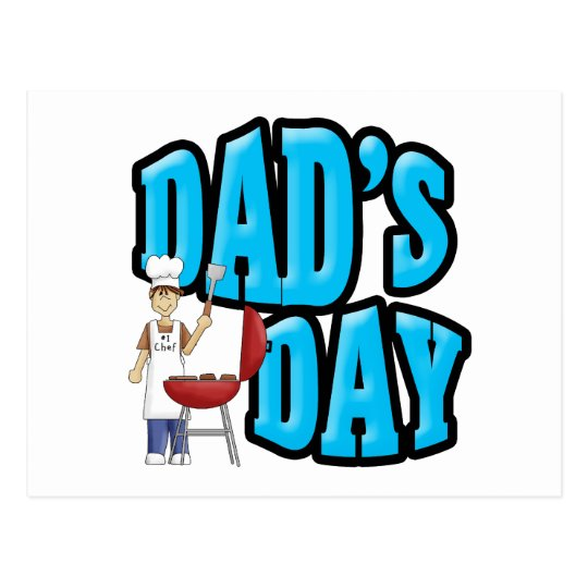 Dad's Day Chef Postcard