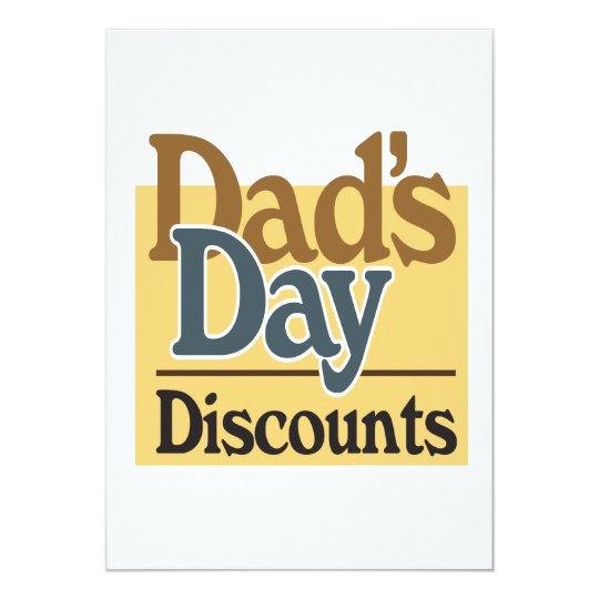 Dads Day Discounts Card