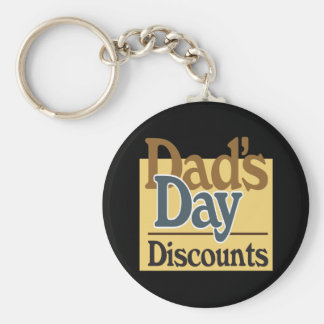 Dads Day Discounts Keychain