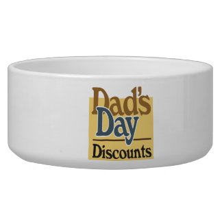Dads Day Discounts Dog Bowls