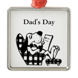 Dad's Day King Mutt Christmas Tree Ornaments