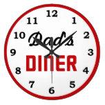 Dad's Diner Clock