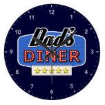 Dad's Diner - Kitchen Clock