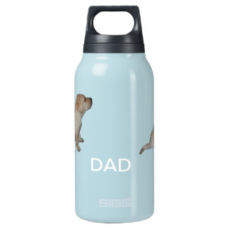 Dad's dog insulated water bottle