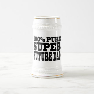 Dads & Fathers To Be : 100% Pure Super Future Dad Beer Stein
