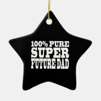 Dads & Fathers To Be : 100% Pure Super Future Dad Ceramic Ornament