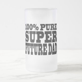 Dads & Fathers To Be : 100% Pure Super Future Dad Frosted Glass Beer Mug
