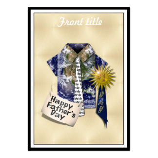 Dads Favorite Earth Shirt with #1 Ribbon on Gold Business Cards